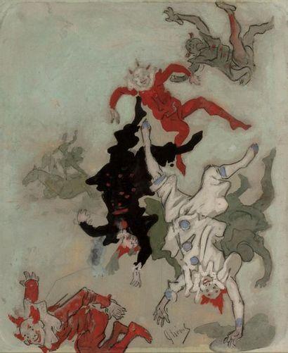 Jules CHERET (Paris 1836 - Nice 1932) Clowns...