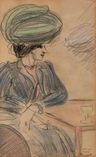 Paul - Charles DELAROCHE (1883-1914) Femme...