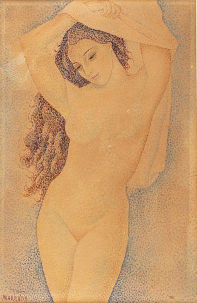 Marie VOROBIEFF MAREVNA (1892-1984) Femme...