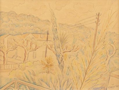 Marie VOROBIEFF MAREVNA (1892-1984) Paysage,...