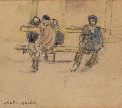 Jules ADLER (1865-1952) Personnages sur...
