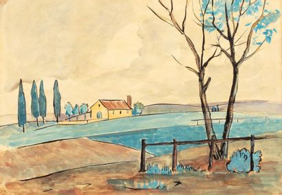 Attribué à Adolphe FEDER (1886-1943) Paysage...