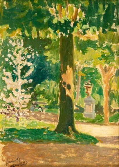 Augustin GRASS-MICK (1873-1963) Vue de Parc,...