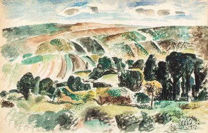 Charles TCHERNIAWSKY ( 1900-1976) Paysage...