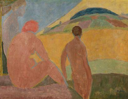 Alois BILEK (1887-1960) Femmes nues au soleil...