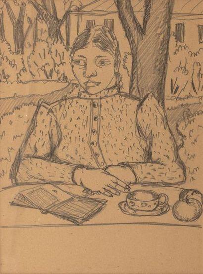 Attribué à Michel LARIONOV (1881-1964) Portrait...