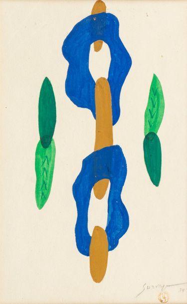 Léopold SURVAGE (1879-1968) Composition abstraite,...