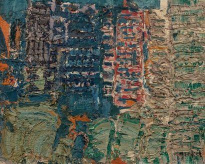Jacques YANKEL (Paris 1920) Composition Huile...