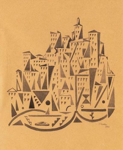 Federico KROMKA (1890-1942) La ville, 1923...