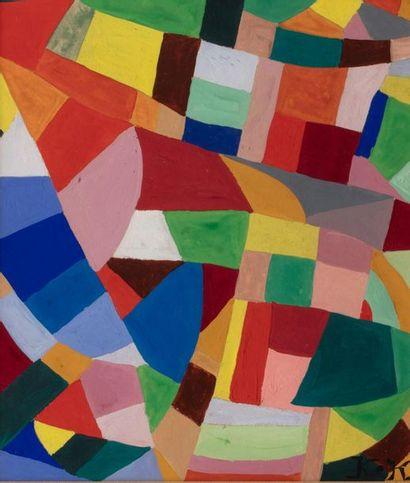 Jeanne FREUNDLICH KOSNICK-KLOSS (Glogow 1875 - Paris 1947) Abstract composition...
