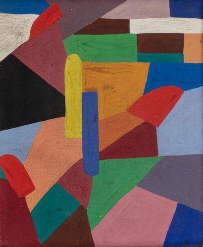 Jeanne FREUNDLICH KOSNICK-KLOSS (Glogow 1875 - Paris 1947) Composition Gouache on...