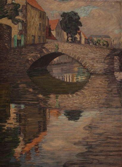 Léon DETROY (Chinon 1859-1955) Bruges, le...