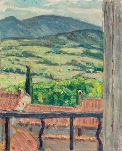 Louis SUE (Paris 1875-1968) Paysage vu du...