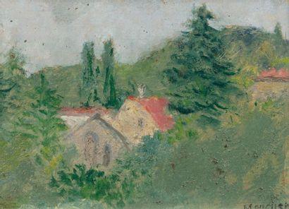 Marc MOUCLIER (Aigre 1866 - Paris 1848) Paysage...