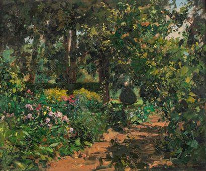Paul Emile LECOMTE (Paris 1877 - 1950) Jardin,...