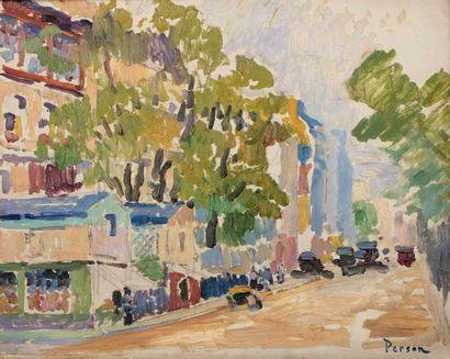 Henri PERSON (Amiens 1876- Paris 1926) Boulevard...