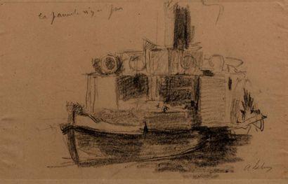 Attribué à Albert LEBOURG (1849 -1928) Bateau...