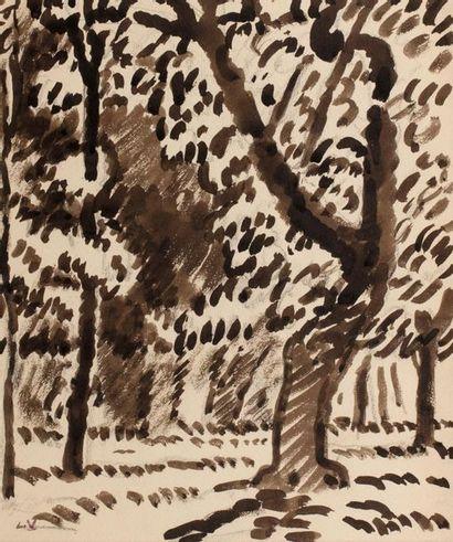 Louis VALTAT (Dieppe 1869 - Paris 1952) Arbres...