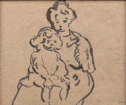 Louis VALTAT (Dieppe 1869 - Paris 1952) Suzanne...