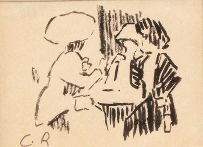 Carlos REYMOND (Paris 1884-Nice 1970) Femmes...
