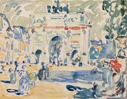 Louis VALTAT (Dieppe 1869 - Paris 1952) L'arc...