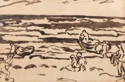 Louis VALTAT (Dieppe 1869 - Paris 1952) Enfants...