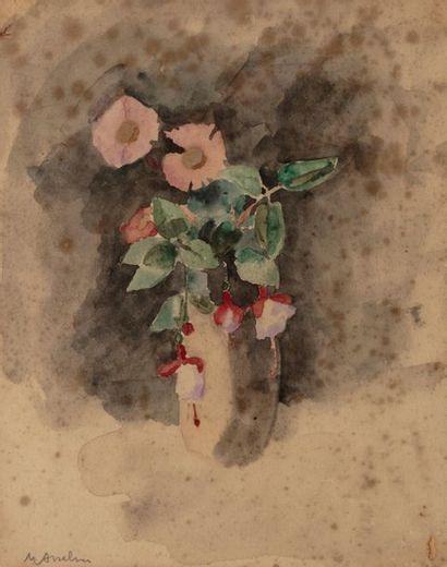 Maurice ASSELIN ( 1882-1947) Vase de fleurs...