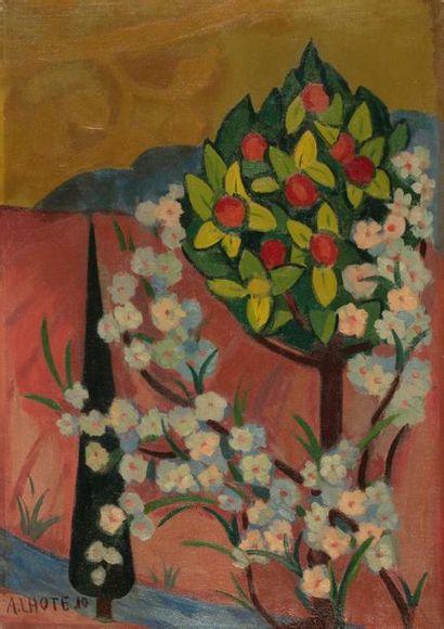 André LHOTE (Bordeaux 1885- Paris 1962) Oranger...