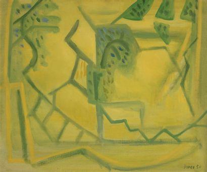 Francisco BORES (1898-1972) Paysage jaune,...