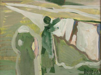 Francisco BORES (1898-1972) Lavandières dans...
