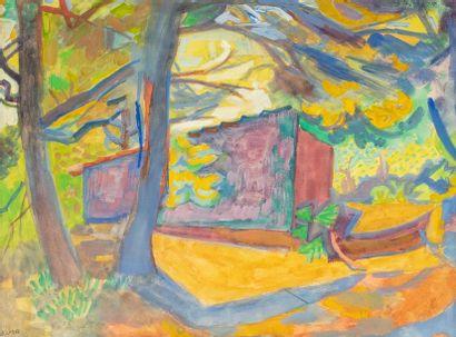 André LHOTE (Bordeaux 1885-Paris 1962) Habitation...