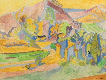 André LHOTE (Bordeaux 1885- Paris 1962) Paysage...