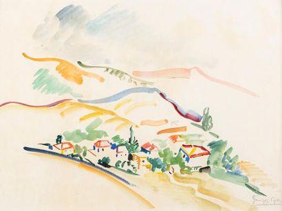 Georges Albert CYR (1880-1964) Le village...