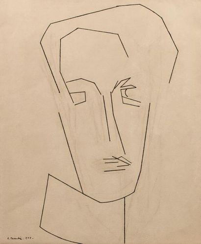 André BEAUDIN (1895-1979) Portrait de Madame...