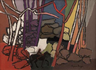 Suzanne ROGER (Paris 1899 - 1986) Le cavalier...