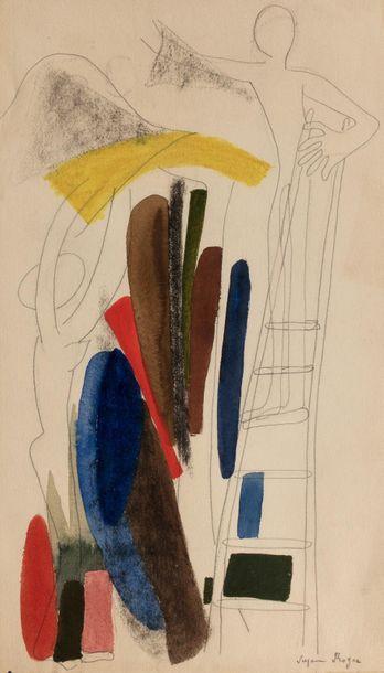 Suzanne ROGER (Paris 1899 - 1986) Etude d'un...