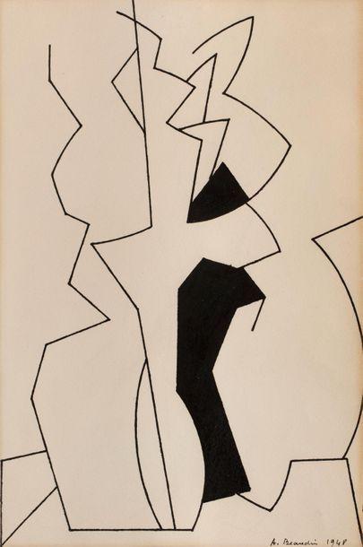 André BEAUDIN (Mennecy 1895 - Paris 1979)...