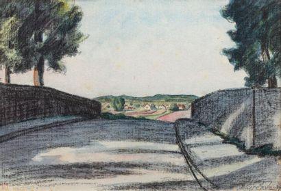 René BESSERVE (1883 - 1959) Le pont Aquarelle...