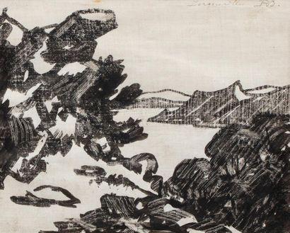 René BESSERVE (1883 - 1959) Porquerolles...