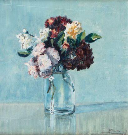 René BESSERVE (1883 - 1959) Vase de fleurs...