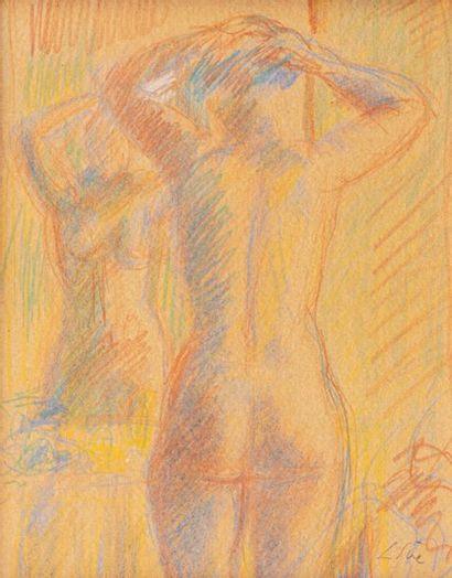 Louis SUE (Paris 1875-1968) Nu au miroir...