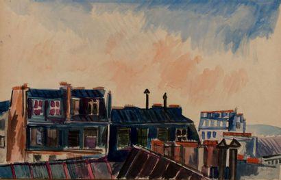 Jean DUFY (Le Havre 1888- Boussay 1964) Toits...