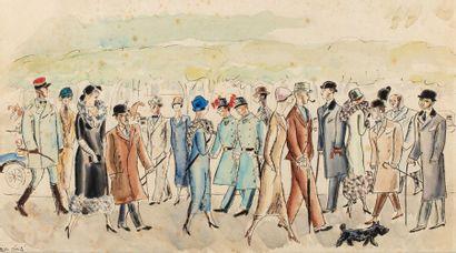 Jean OBERLE (Brest 1900-1 Paris 961) Promenade...