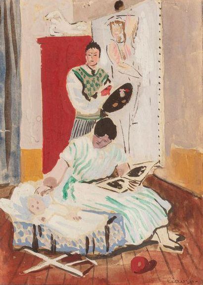 Camille LIAUSU (1894-1975) Peintre, épouse...