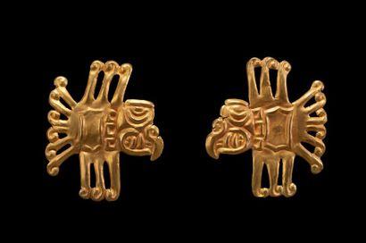 Bagues cérémonielles présentant le dieu aigle...