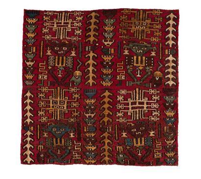 Textile probablement destiné à orné le torse...