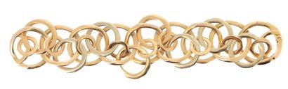 POMELLATO Bracelet en or jaune brossé 18k (750 millièmes) composé d'un enchevêtrement...