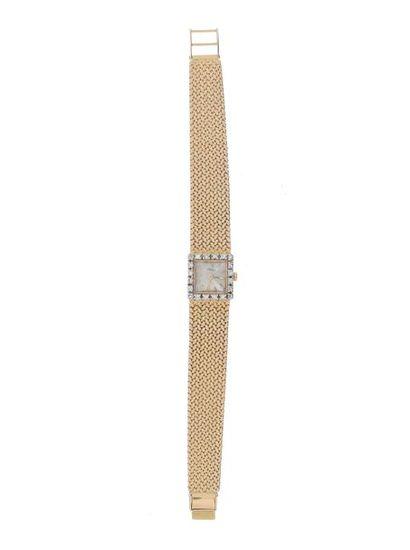 Montre bracelet de dame en or jaune (750 millièmes),
