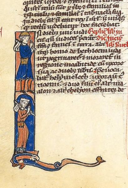 Bible parisienne enluminée fin du XIIIème...