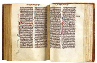 Bible sur parchemin XIVème siècle La Sainte...